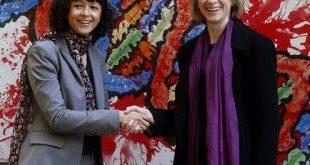 Emmanuelle Charpentier (L) and Jennifer Doudna (R). J.L. Cereijido/EPA